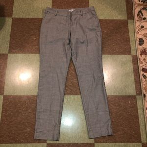 H&M plaid trouser slim pants 8 grey